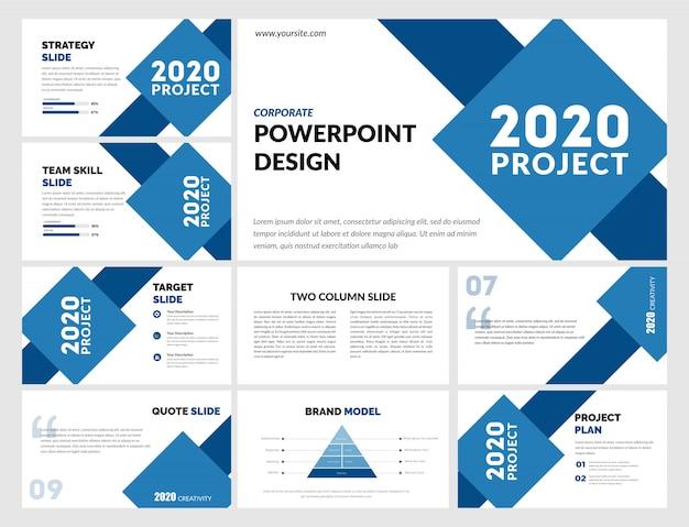 Einfache blaue powerpoint-vorlage