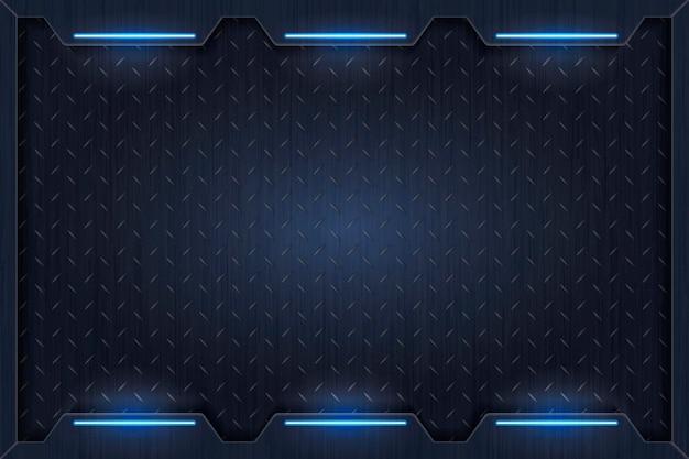 Einfache blaue technologiehintergrundschablone