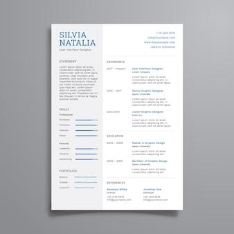 Einfache clean resume vorlage