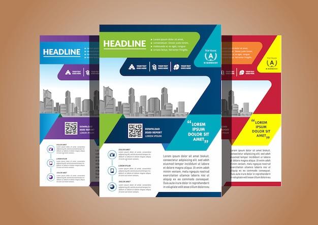 Einfache cover layout broschüre magazin katalog flyer für hintergrund