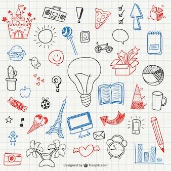 Einfache doodles sammlung