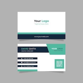 Einfache doppelseitige visitenkartenvorlage