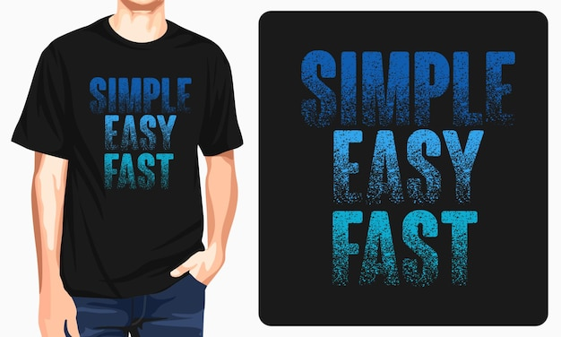 Einfache einfache schnelle grafik-t-shirts