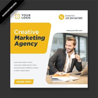 Einfache elegante agentur für kreatives marketing für social media post