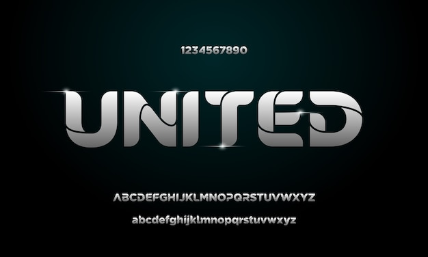 Einfache elegante alphabetschrift und -nummer. typografie-schriftarten in großbuchstaben, kleinbuchstaben und zahlen