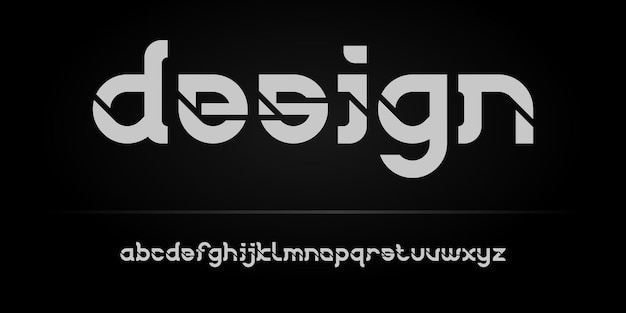 Einfache elegante moderne alphabet-schriftartvorlage