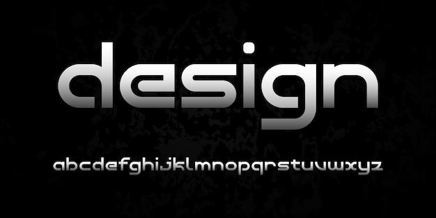Einfache elegante moderne alphabetschrift. typografie urban style schriftart