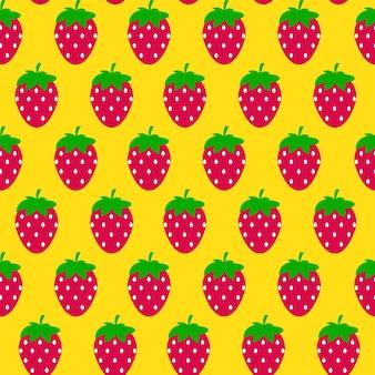 Einfache erdbeere nahtlose muster hintergrund vektor illustratio