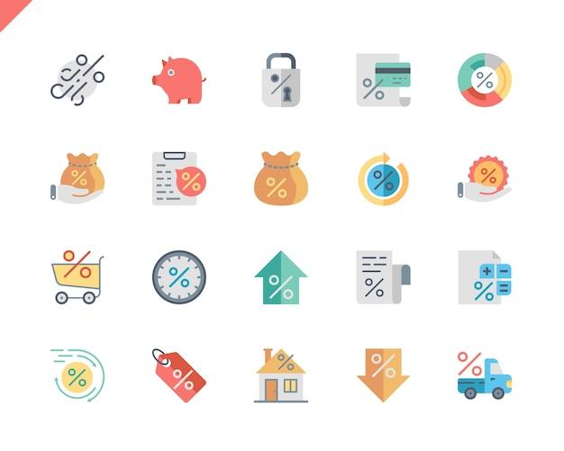Einfache flache flache ikonen des darlehens für website und bewegliche apps.