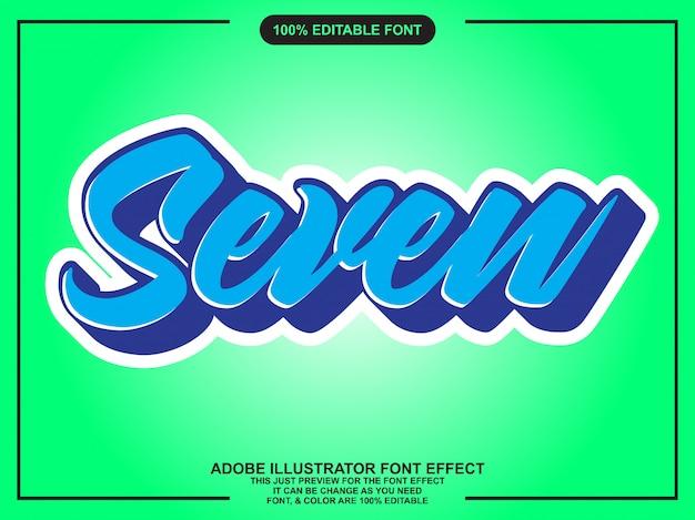 Einfache flache skript editierbare typografie-schriftart-effekt