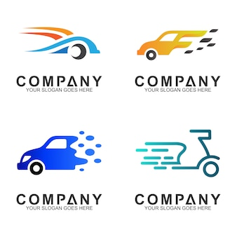 Einfache flache transport- / fahrzeuglogodesign