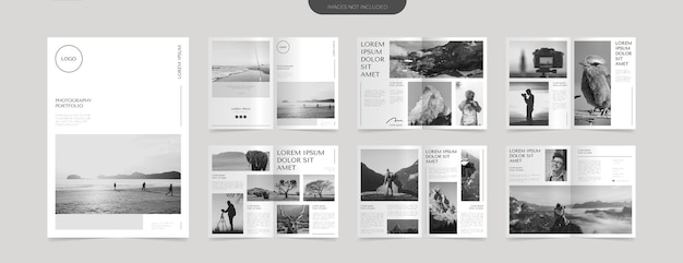 Einfache fotografie portfolio layout design vorlage