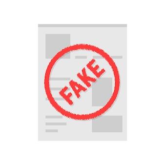 Einfache gefälschte seite für soziale netzwerke. konzept der datenschutzrichtlinie, webseitenbuch, spion, lüge, header-kopie, layout-chat, illegale, mobile app. flacher stil-trend-logo-design-vektor-illustration auf weißem hintergrund