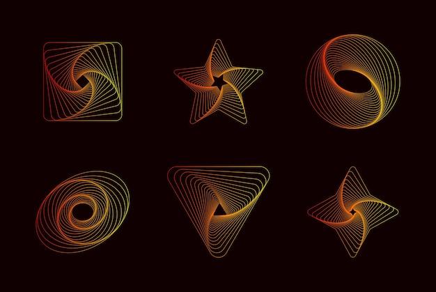 Einfache geometrische abstrakte muster trendige vektorgrafikelemente für ihr einzigartiges design