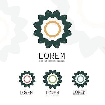 Einfache geometrische logo-vorlage