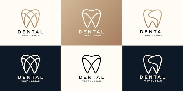 Einfache gesundheit dent logo design
