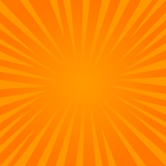 Einfache hintergrundvektorillustration des abstrakten komischen sonnendurchbruchs