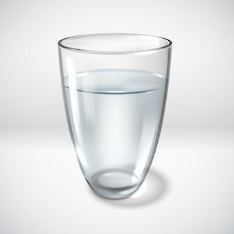Einfache illustration der realistischen glasgläser
