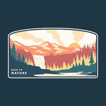 Einfache illustration einer erstaunlichen naturlandschaft