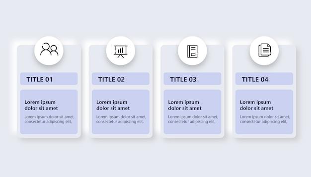 Einfache infografik mit 4 optionen