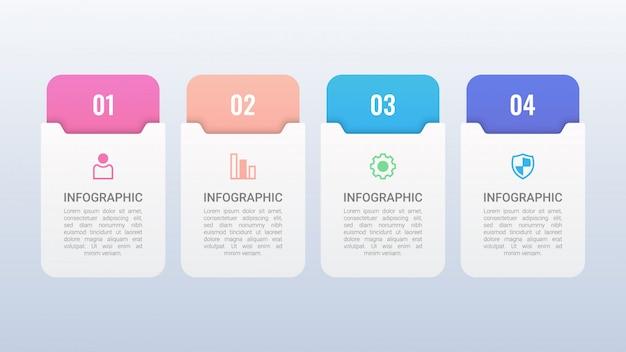 Einfache infografik mit optionen