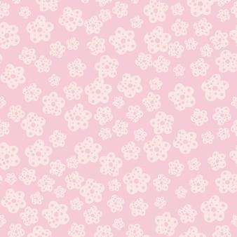 Einfache kamille blüht nahtloses muster auf rosa hintergrund.