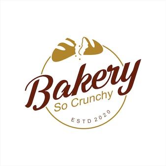 Einfache knusprige bäckerei-logo-abzeichen-vorlage