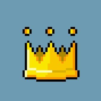 Einfache krone mit pixel-art-stil