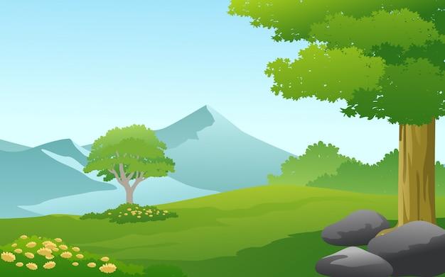 Einfache landschaft naturlandschaft