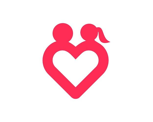 Einfache liebe romantik-logo