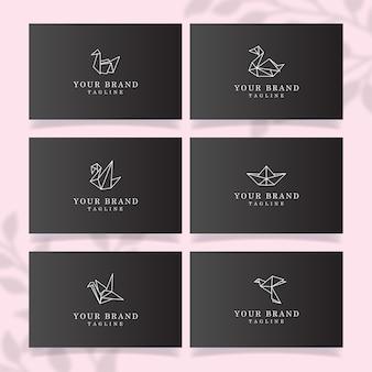 Einfache linie logo bearbeitbare vorlage