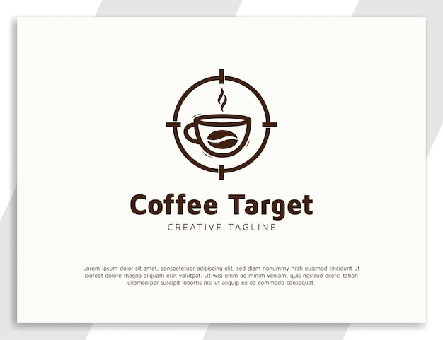 Einfache logo-designvorlage für kaffeegetränke
