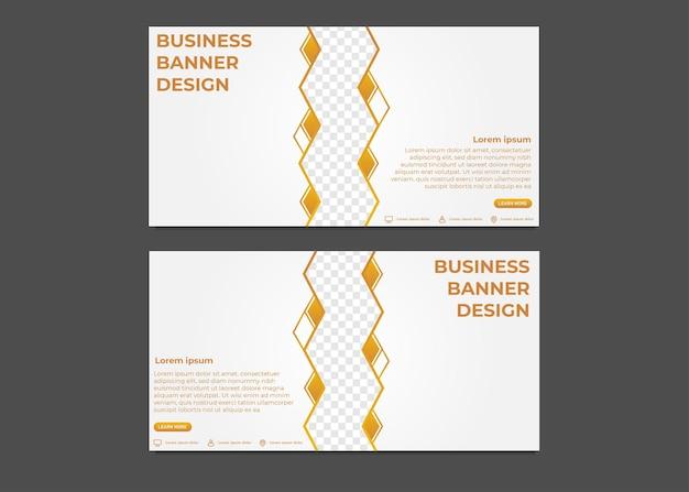 Einfache moderne gradienten-business-banner-vorlage