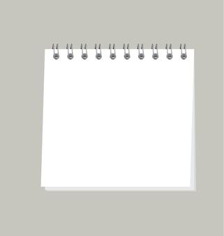Einfache organisatorillustration. vorlage des notizblocks für leere seiten
