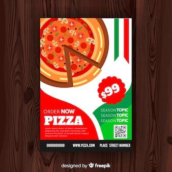 Einfache pizza flyer vorlage