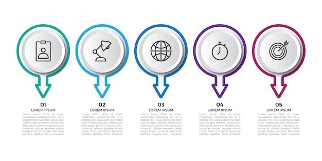 Einfache professionelle infografik mit symbol