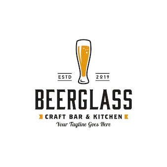 Einfache retro craft beer logo-design