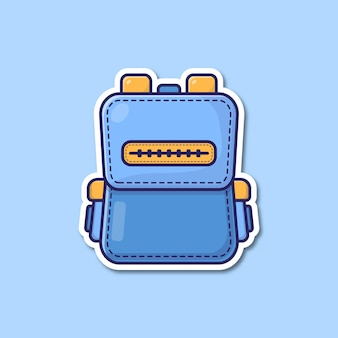 Einfache rucksack-cartoon-vektor-illustration