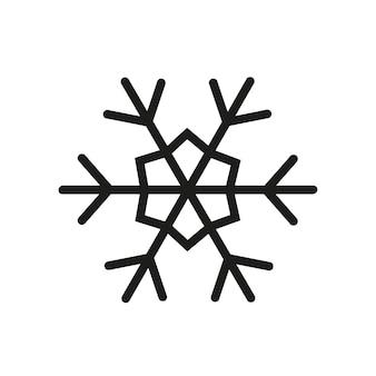 Einfache schneeflocke-symbol. weihnachten-vektor-illustration.