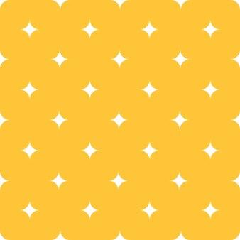 Einfache sterne auf nahtlosem muster des gelben hintergrundes