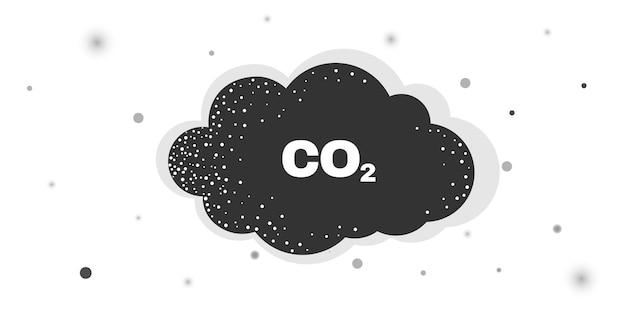 Einfache symbolillustration der co2-wolke