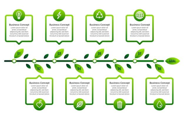 Einfache timeline-infografik