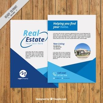 Einfache und abstrakten immobilien-flyer