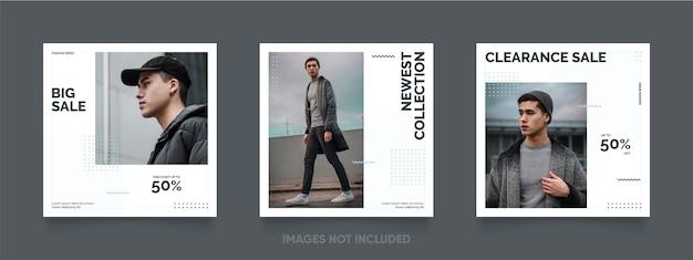 Einfache und editierbare social media post und instagram banner vorlage