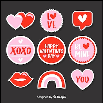 Einfache valentine-labelsammlung