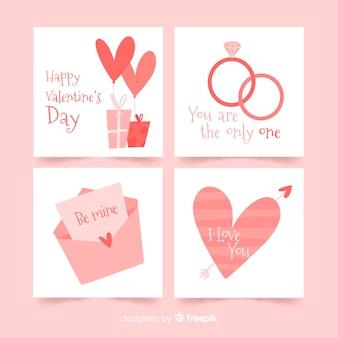 Einfache valentinsgrußkartensammlung