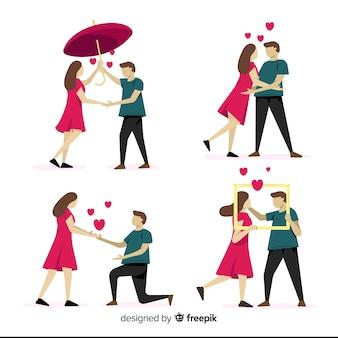 Einfache valentinstagspaarsammlung