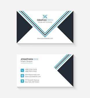 Einfache visitenkarte mit logo oder symbol für ihr unternehmen
