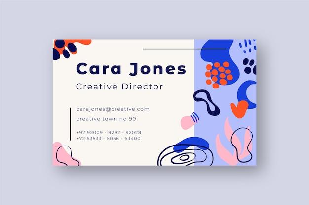 Einfache visitenkartenvorlage