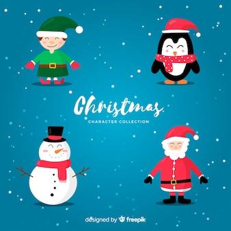 Einfache weihnachtscharaktersammlung